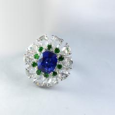 藍寶石 沙弗石 鑽石 戒指