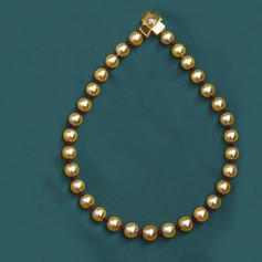 金黃色南洋珠鍊