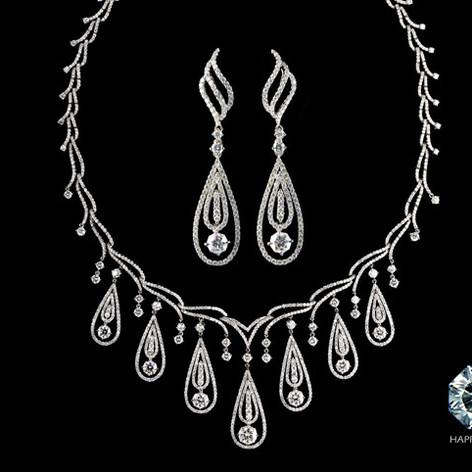 鑽石  18K白HAPPY CUT鑽石套鍊