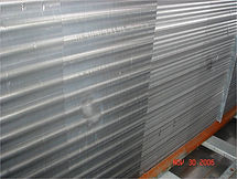 High pressure steam cleaning of chill water coils