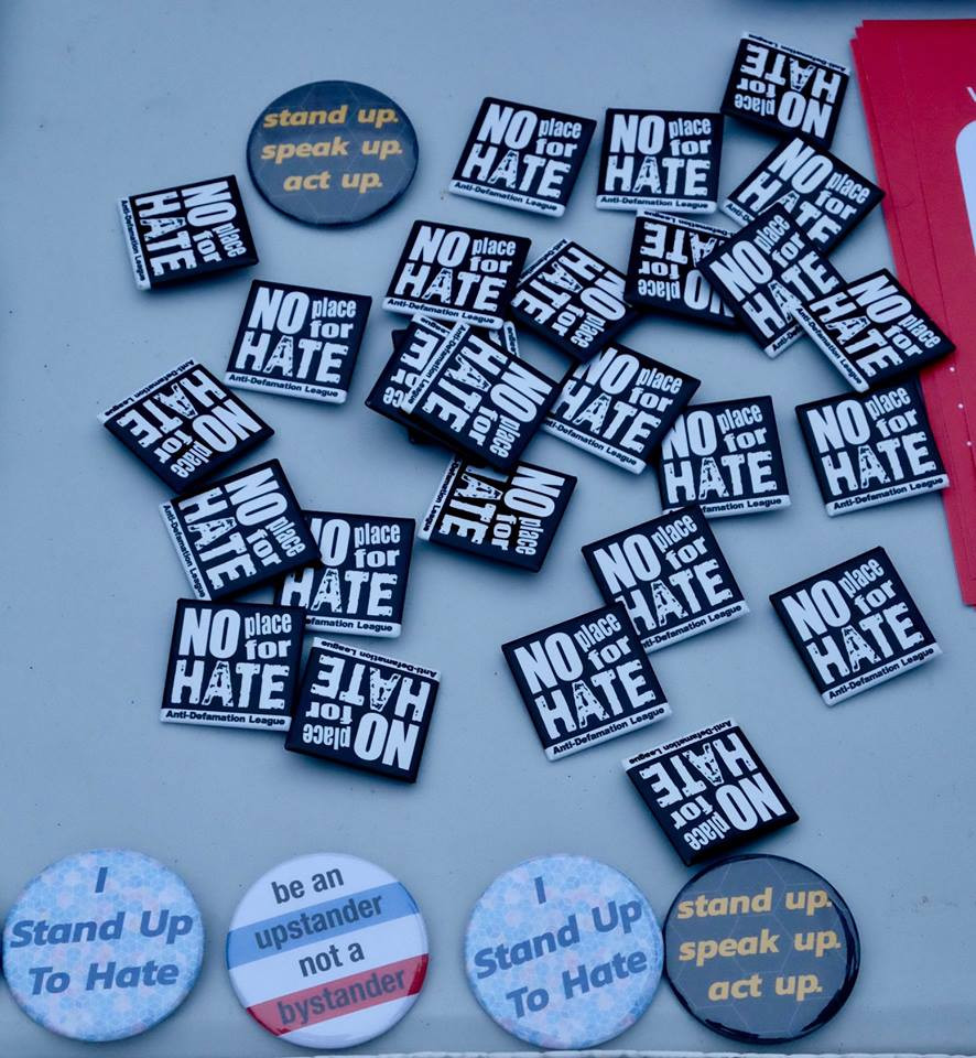 No Place for Hate pins