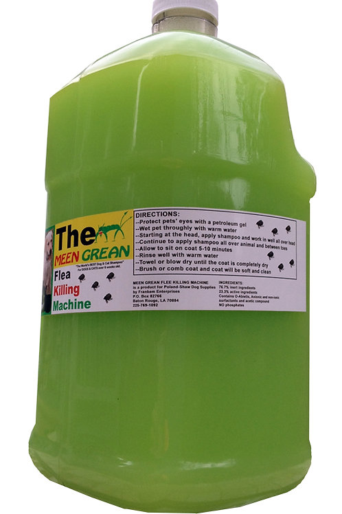 Meen Grean Flea Killing Machine Shampoo - 1 Gallon