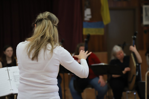 Conductor Oksana Zelinska, Toronto rehearsal February 2018.