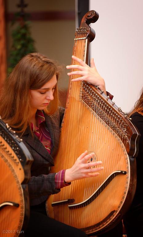Soprano Veronika Chaplii in group rehearsal.  February 2017.