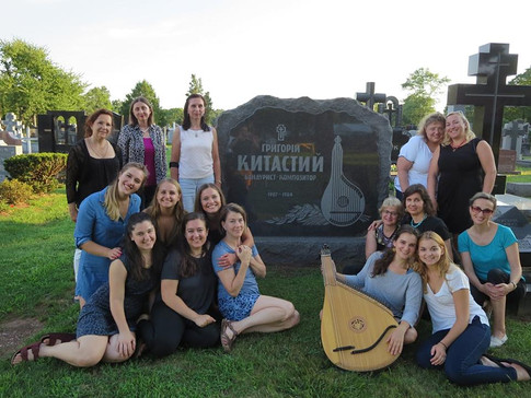 The WBE visits the grave of Hryhory Kytasty, a teacher of many of our members, and composer of many of our pieces. Bound Brook, New Jersey.
