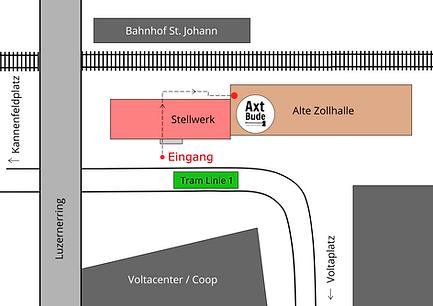 Lageplan | Axt Bude Basel