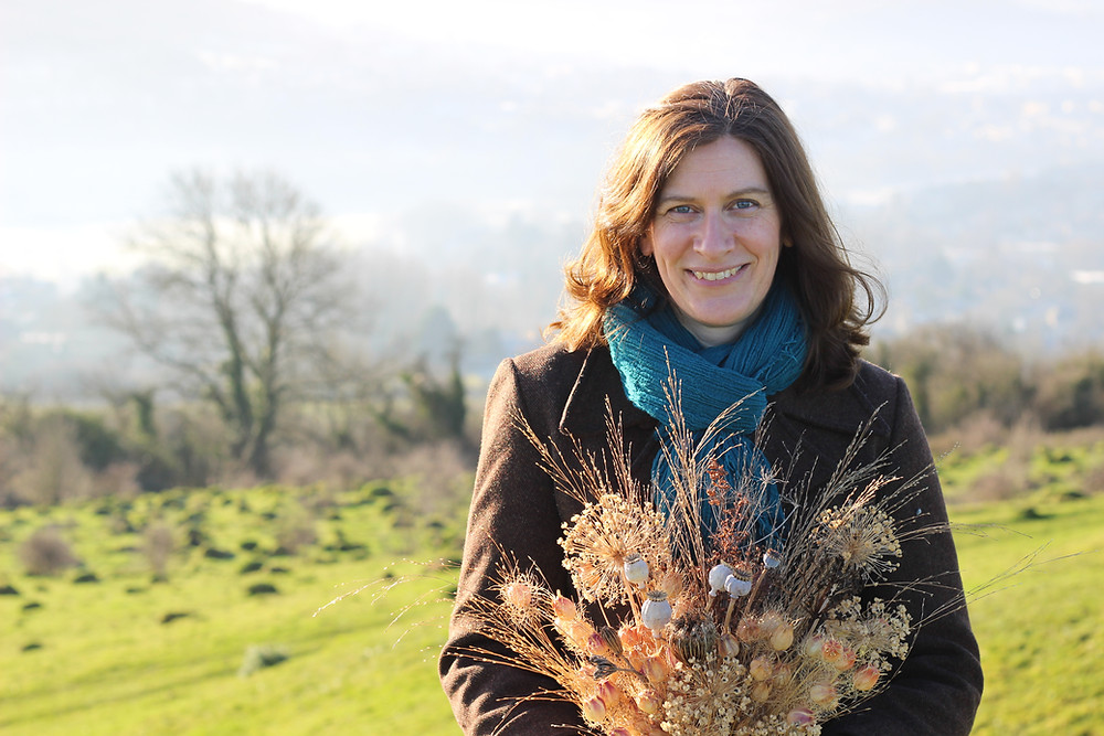Cathy Crozier-Cole from Umbel on Little Solsbury Hill, Bath, with dried flowers