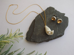 'Brave' necklace and studs from the Fem collection.