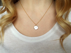 Contrast Hexagon Necklace