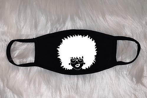 Afro Lady Face Mask