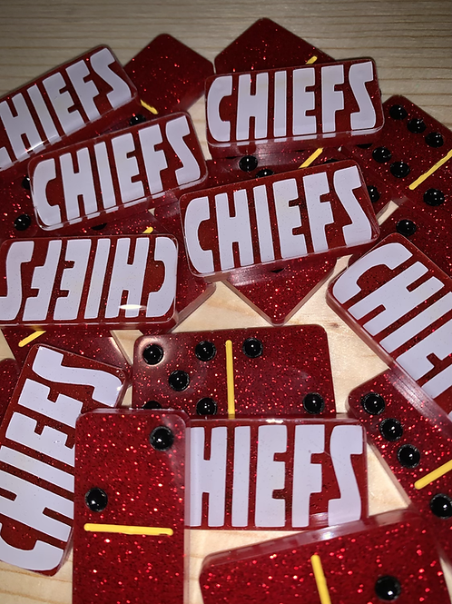 KC Chiefs Dominoes -Red2