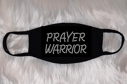 Bling PRAYER WARRIOR Face Mask