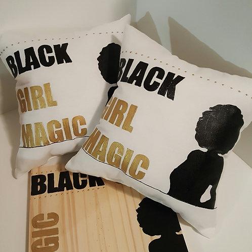 """""""Black Girl Magic"""" Pillow & Wall Sign Set"""