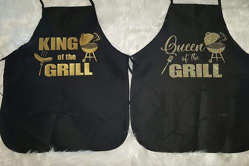 King & Queen Apron Set
