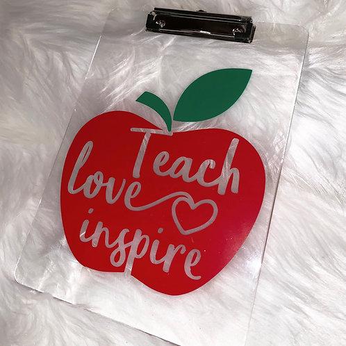 Teach Love Inspire Clipboard - #1