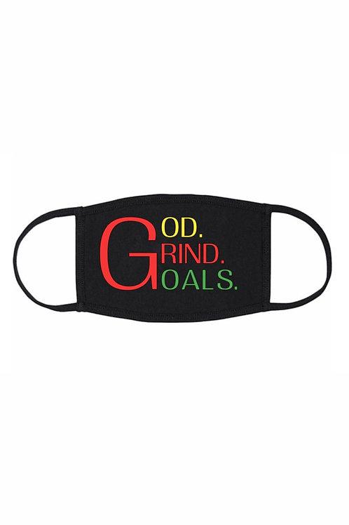 God Grind Goals Face Mask- Multi-Color