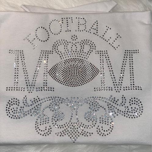 Football Mom - Bling Tee