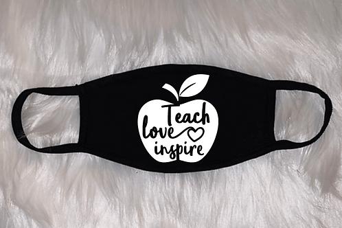Teach Love Inspire -Apple Face Mask