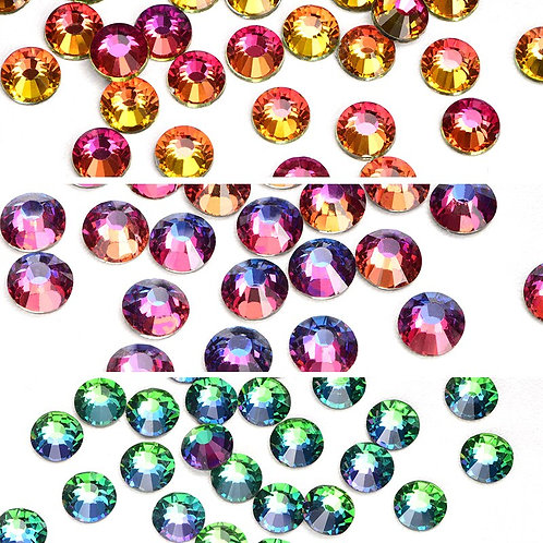 High Quality Glass Volcano Hot Fix Rhinestones