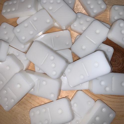 White Resin Dominoes