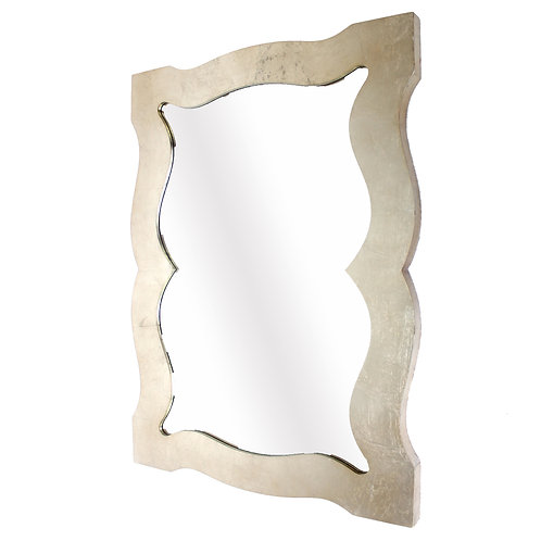 Traditional Style Wooden Wall Mirror with Bevelled Edges, Gold