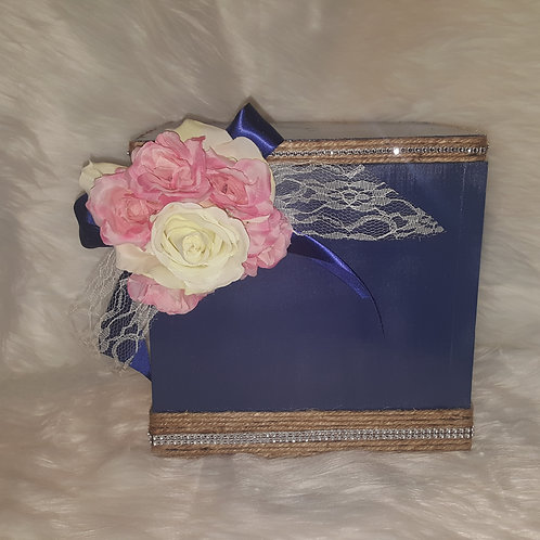 Navy/Ivory/Pink Card/Keepsake Box