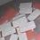 Thumbnail: Pink/White Resin Dominoes