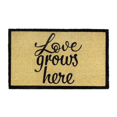 Emilia Love Grows Here Coir Doormat