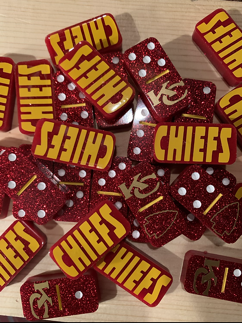 Kansas City Chiefs Resin Dominoes-Red