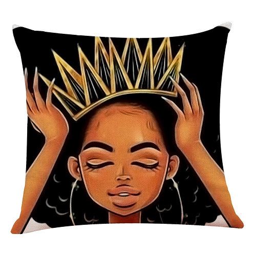 African Girl Print Cushion Cover Only