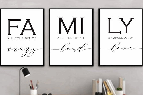 FAMILY Signs (Set of 3)