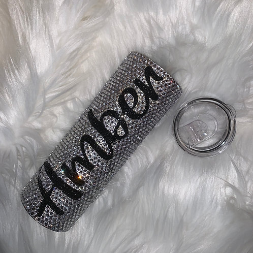 Personalized Skinny Bling Tumbler
