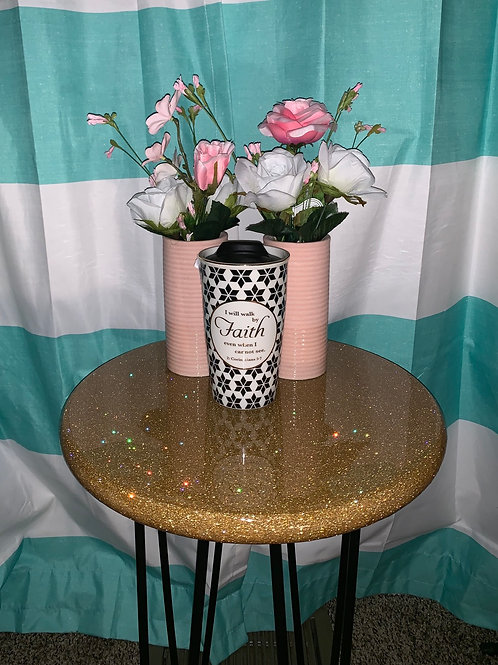 Glitter Top End Table