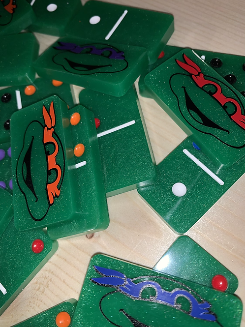 Ninja Turtles Resin Domino Set