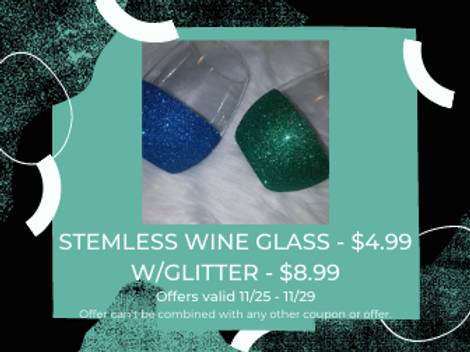 STEMLESS PERSONALIZED WINE GLASS