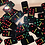 Thumbnail: Black Resin Domino Set (Red, Green & Yellow Dots)