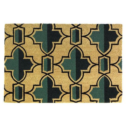 Viola Geometric Flower Coir Doormat