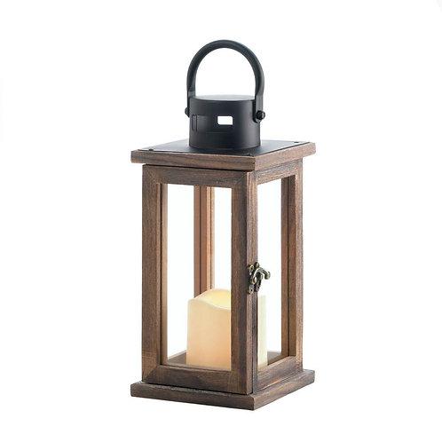 Lodge Wooden LED Candle Lantern