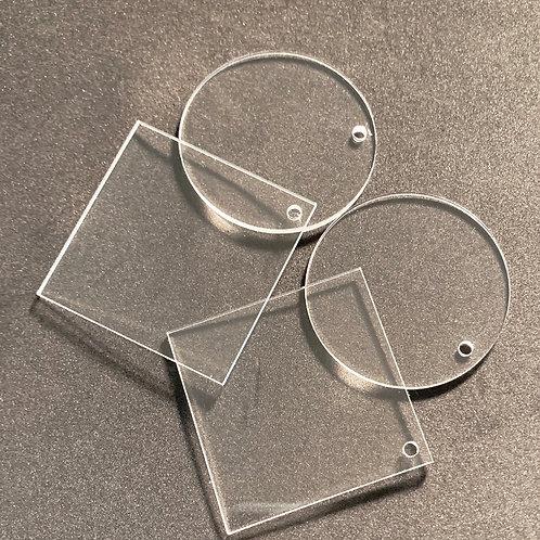 Clear Acrylic Keychain - 2 Inch