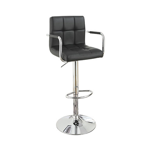 Chair Style Barstool With Faux Leather Seat And Gas Lift  Set of 2