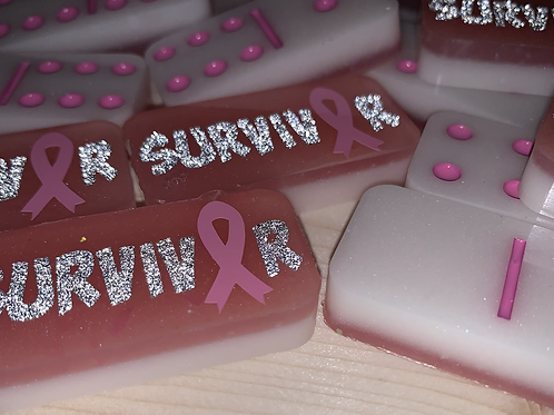 Breast Cancer Survivor Resin Domino Set