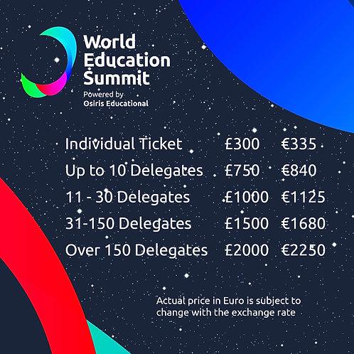 World Education Summit Tickets