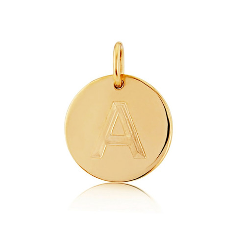 Gold disc pendant pre order fine jewellery mint kiss aloadofball Images