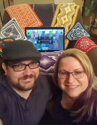 Ryan & Brandy w/ Tapestries
