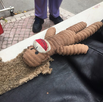 A monkey needing repair