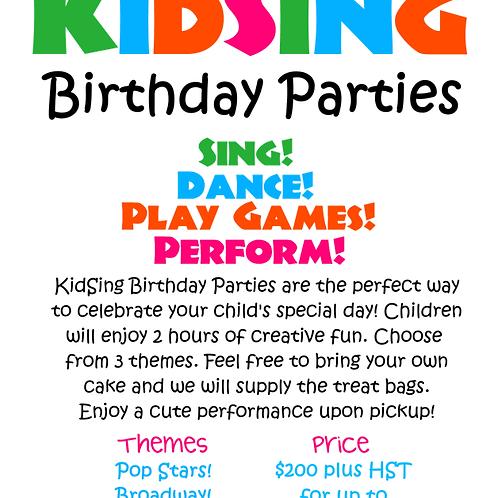 KidSing Birthday Party
