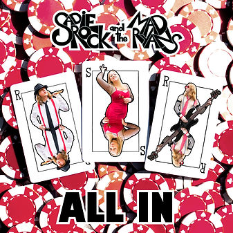 Sadie Rock and the Mad Ryans - All In album cover by Saul Zimet