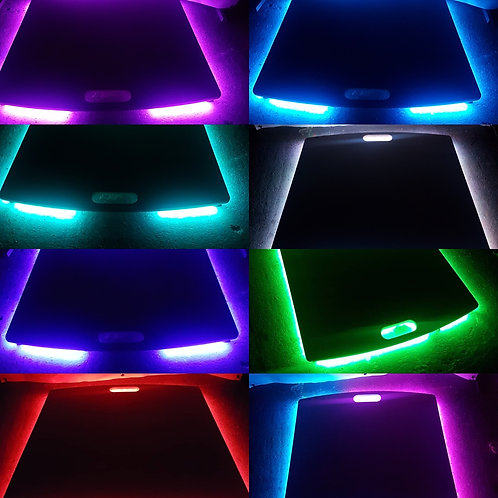 Sound activated light up tap dance board.