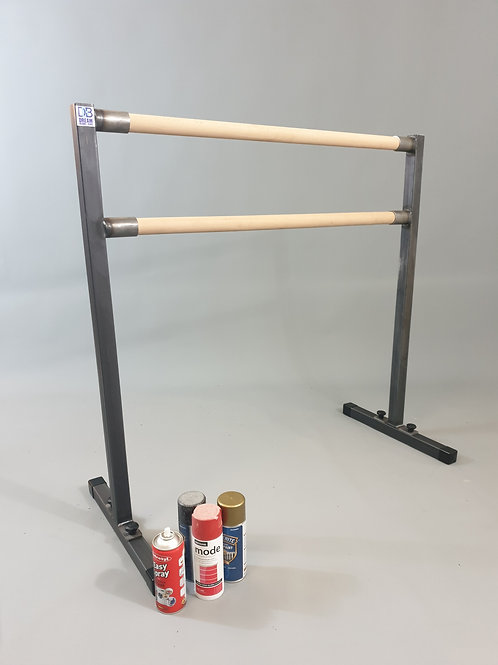 Unpainted double freestanding barre