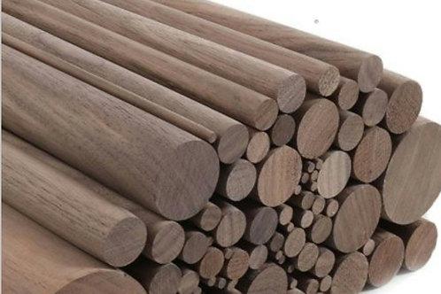 Walnut barre (no brackets) 2.4m
